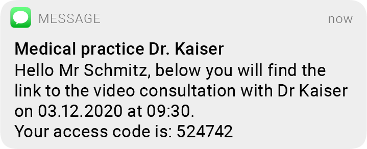 sms medical video consultation